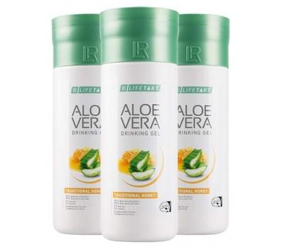 Aloe Vera Питьевой гель Honey, набор 3 шт.