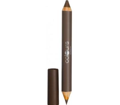 Двусторонний карандаш для бровей Нежно-коричневый LR Colours
